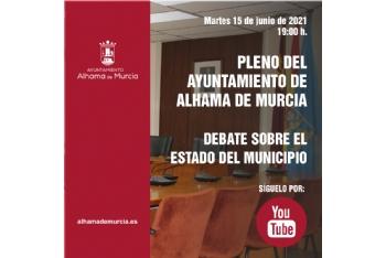 Convocatoria de Pleno: Debate sobre el Estado del Municipio » martes 15 de junio de 2021