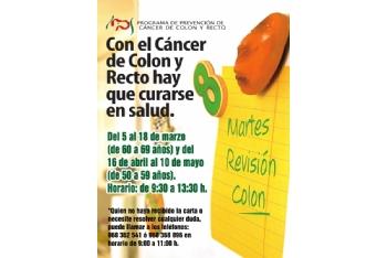 Si tienes entre 50 y 69 años hazte la prueba del cáncer de colon y recto. Del 5 de marzo al 10 de mayo de 2021