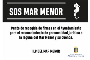 El Ayuntamiento de Alhama, punto de recogida de firmas para la ILP del Mar Menor