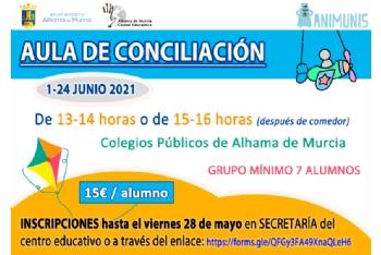 Abierto el plazo de inscripción para el aula de conciliación durante el mes de junio