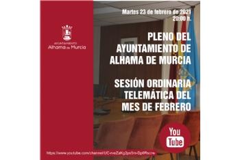 Convocatoria de Pleno: sesión ordinaria » martes 23 de febrero de 2021