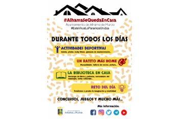 #AlhamaSeQuedaEnCasa te propone un surtido de actividades lúdicas y didácticas durante el confinamiento