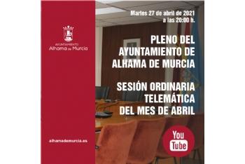 Convocatoria de Pleno: sesión ordinaria » martes 27 de abril de 2021