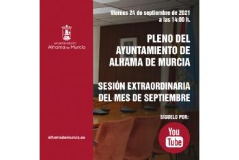 Convocatoria de Pleno: sesión extraordinaria » viernes 24 de septiembre de 2021