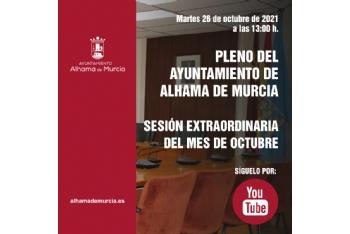 Convocatoria de Pleno: sesión extraordinaria » martes 26 de octubre de 2021