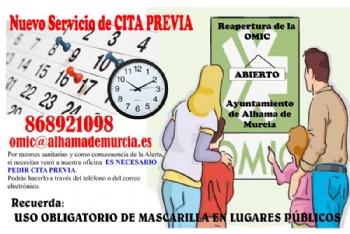 La Oficina Municipal de Información al Consumidor reabre con un servicio de cita previa