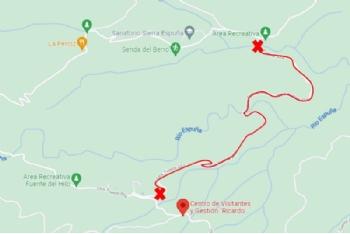 Obras de mejora obligan a cortar la carretera entre la casa forestal de Huerta Espuña y la Casa de Leyva