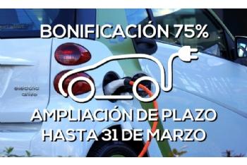 Los propietarios de vehículos eléctricos podrán solicitar la bonificación del 75% hasta el 31 de marzo