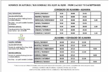 Servicio gratuito de autobús entre Alhama y el Condado sufragado por la entidad urbanística