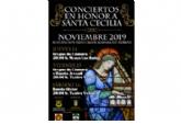 Conciertos en honor a santa Cecilia 2019 de la Agrupación Musical de Alhama: 14, 15 y 16 de noviembre