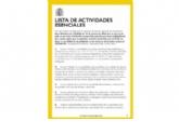 Servicios esenciales que se pueden seguir prestando del 30 de marzo al 9 de abril