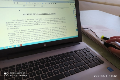 Firma alcaldesa decreto ampliación medidas CECOPAL