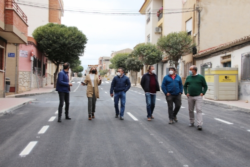 Visita obras calle Virgen de Los Dolores