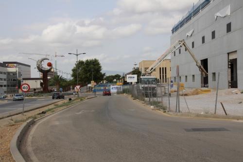 Calles cortadas obras avenida Antonio Fuertes