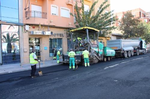Asfaltado de la avenida Ginés Campos
