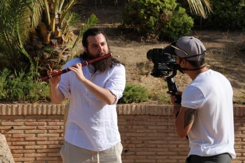 Grabación videoclip del flautista David Gutierrez para Ecos