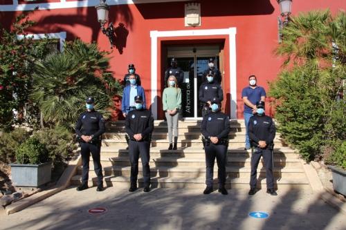 Toma de posesión de cuatro agentes de policía Local