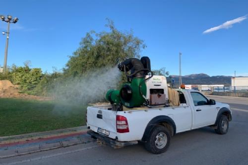 Tratamiento contra mosquitos en el Parque Industrial