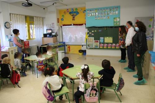 Visita a los colegios videollamada virtual con los Reyes Magos II