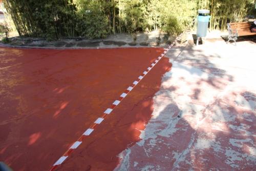 Repintado suelo del Parque de La Cubana