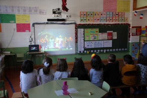 Visita a los colegios videollamada con los Reyes Magos