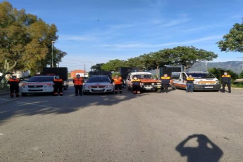 Vehículos de Protección Civil con Malvariche