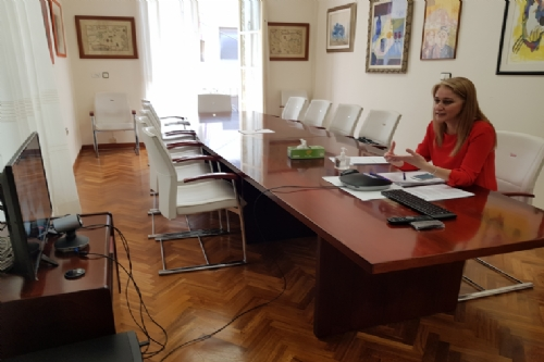 Videoconferencia con la asociación de comerciantes de Alhama