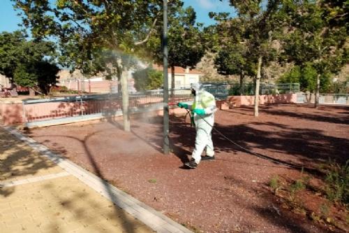 Desinfección de parques y jardines