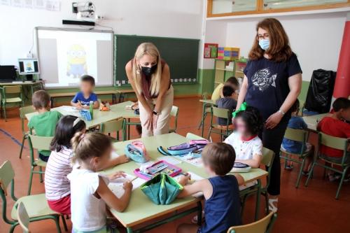 Visita a la escuela municipal de Verano 2021