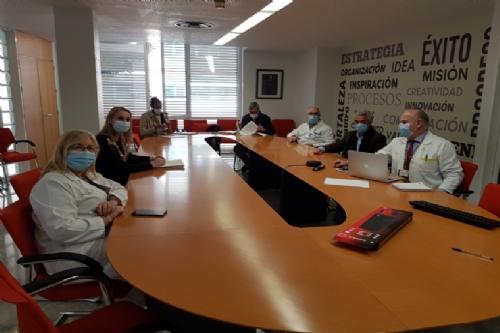 Reunión con la gerencia del área de salud 1 - La Arrixaca