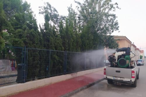 Tratamiento contra los mosquitos realizado en la madrugada el miércoles
