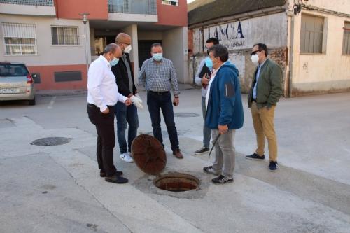 Obras calle Carmen López y Luis Rosales