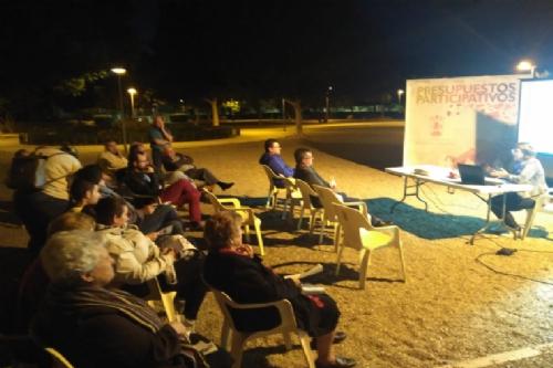 Reunión de presupuestos participativos Jardín Paco Rabal